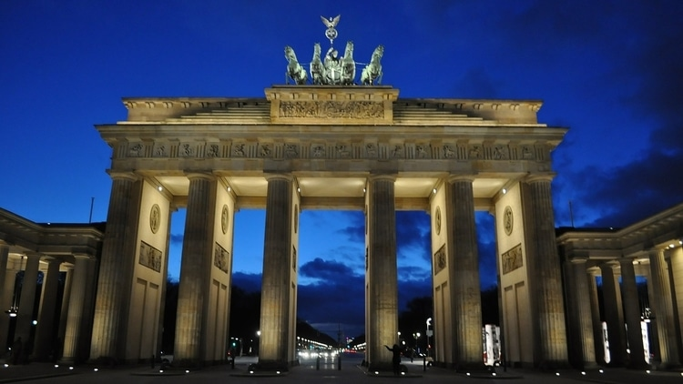 The Brandenburg Gate in Berlin, Germany which is one of the top attractions for travelers
