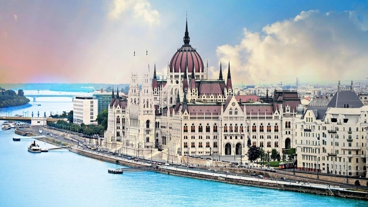 The Parliament Building in Budapest, Hungary which is a travel favorite for budget travelers in Central Europe