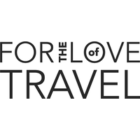 The logo for For The Love of Travel which is a group tour company that provides small group tours for young travelers between 25 and 39 years of age