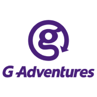The logo for G Adventures which is a group tour company that provides small group tours for travelers of all age groups
