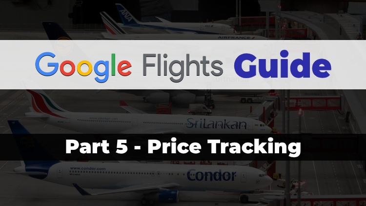 Part 5 of the Travel Done Simple Google Flights Guide discussing the Price Tracking feature