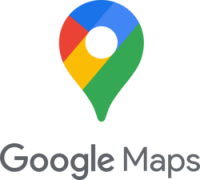 The logo for the Google Maps travel app which is the best map app for travelers