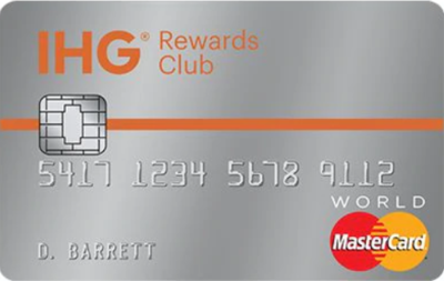 The travel credit card available for American travelers titled the IHG Rewards Club Traveler Mastercard