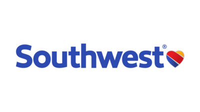 The logo for Southwest Airlines, an airline in the USA that has cheap prices and great quality service