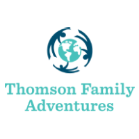 The logo for Thomson Family Adventures which is a group tour company that provides group tours for families that want to travel