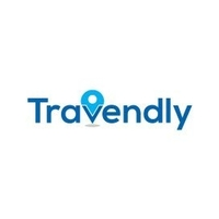 The logo for Travendly which is a group tour company that provides small group tours for young travelers between 18 and 39 years of age