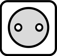 A drawing of the Type C power outlet which is used in many countries around the world