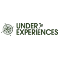The logo for Under 30 Experiences which is a group tour company that provides small group tours for young travelers between 21 and 35 years of age