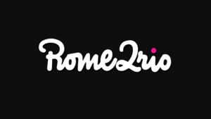 The logo for Rome2Rio, a website that can show you all the transportation options available between any two destinations in the world