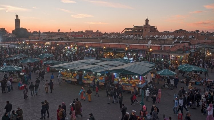 Marrakesh which is a top destination for travelers in Morocco