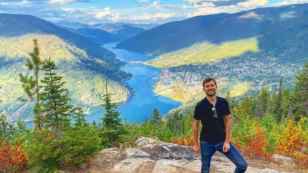 Sebastian from Travel Done Simple as seen in Nelson British Columbia Canada